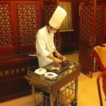 Eating roast duck in the Hutongs of Beijing