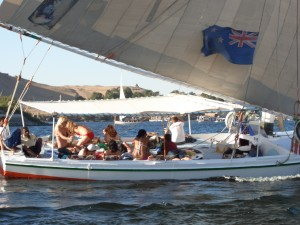 All aboard! The felucca trip is the ideal way to unwind