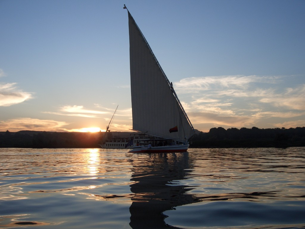 Felucca sailing on the Nile