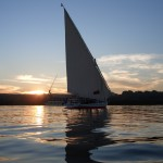 Felucca sailing on The Nile River