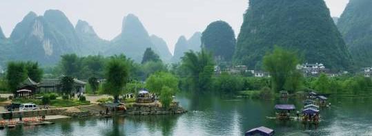 Bamboo Rafting in Yangshuo, China