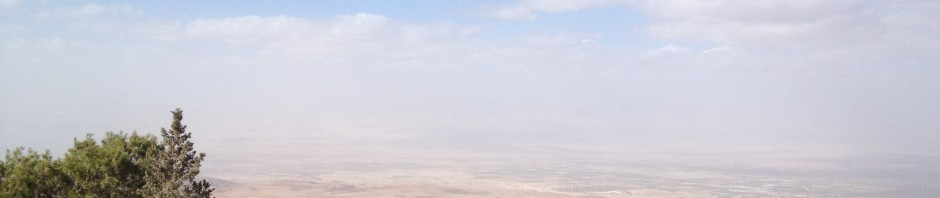 Taking in the view from Mount Nebo, Jordan