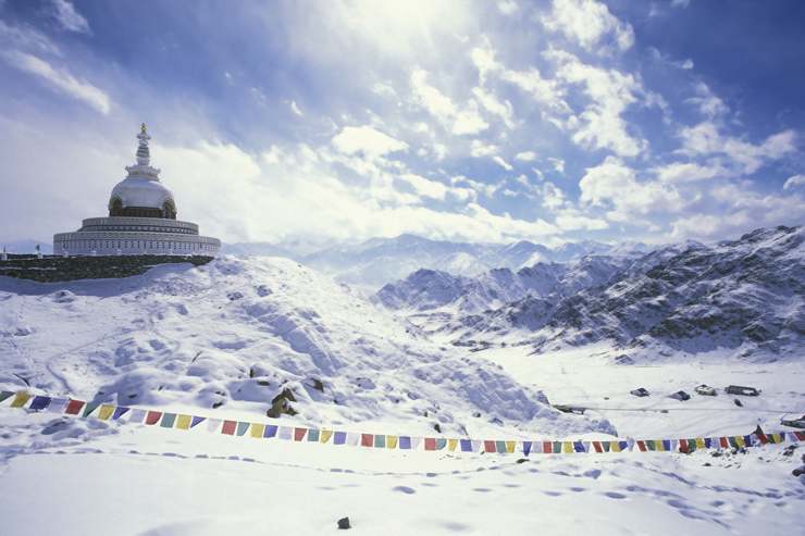 Snow in Leh, one of the hidden gems of India