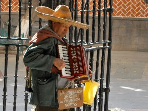 Busker in Mexico City
