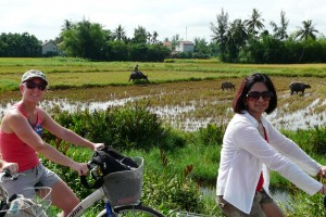 Cycling to Tra Que in Vietnam