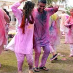 Throw colours at Holi in India