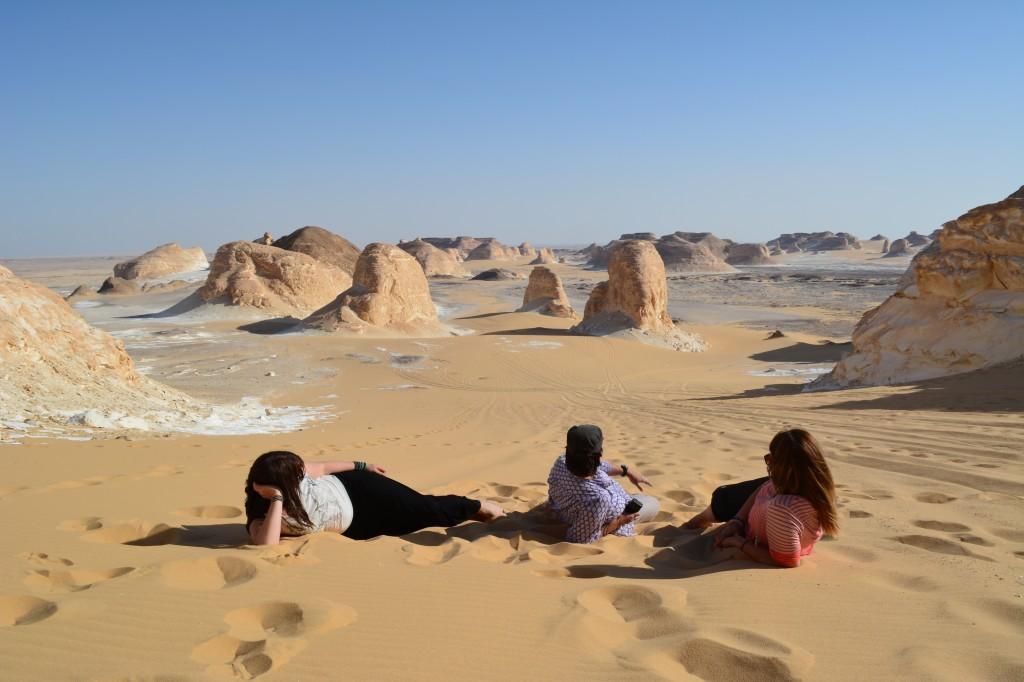 Camp under the stars in the White Desert