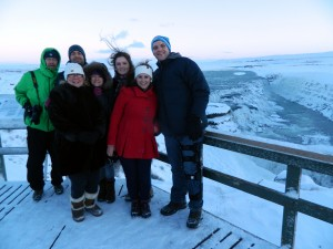 Group at Gullfoss