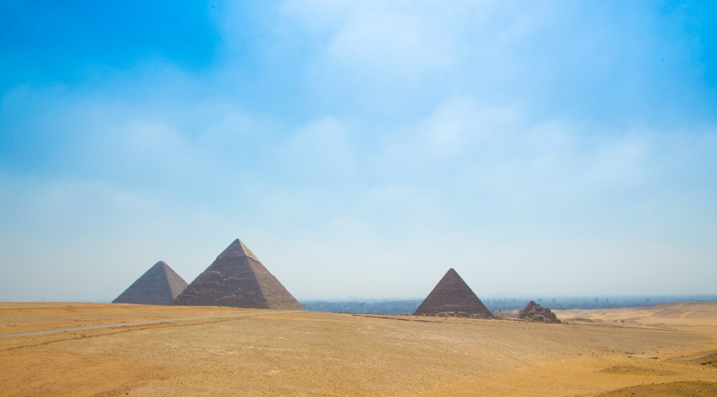 The iconic Pyramids of Giza - Cheops (The Great Pyramid), Chephren and Mycerinus