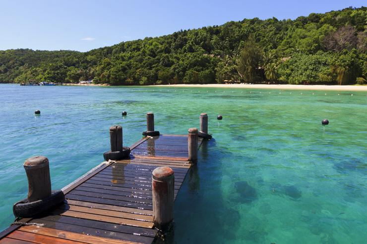 Manukan Island in Borneo