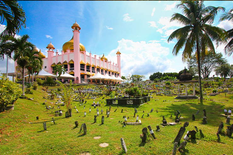 The Pink Mosque in Borneo