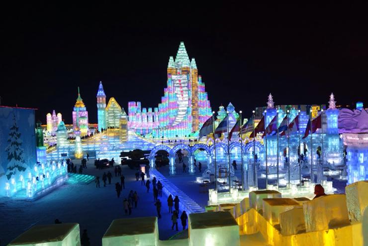 New Year's Eve - Harbin Ice Festival, China