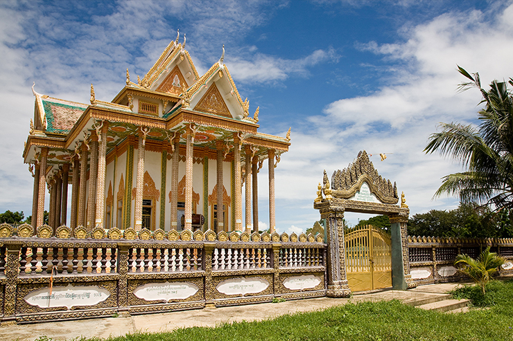 Temple near Battambang in Cambodia