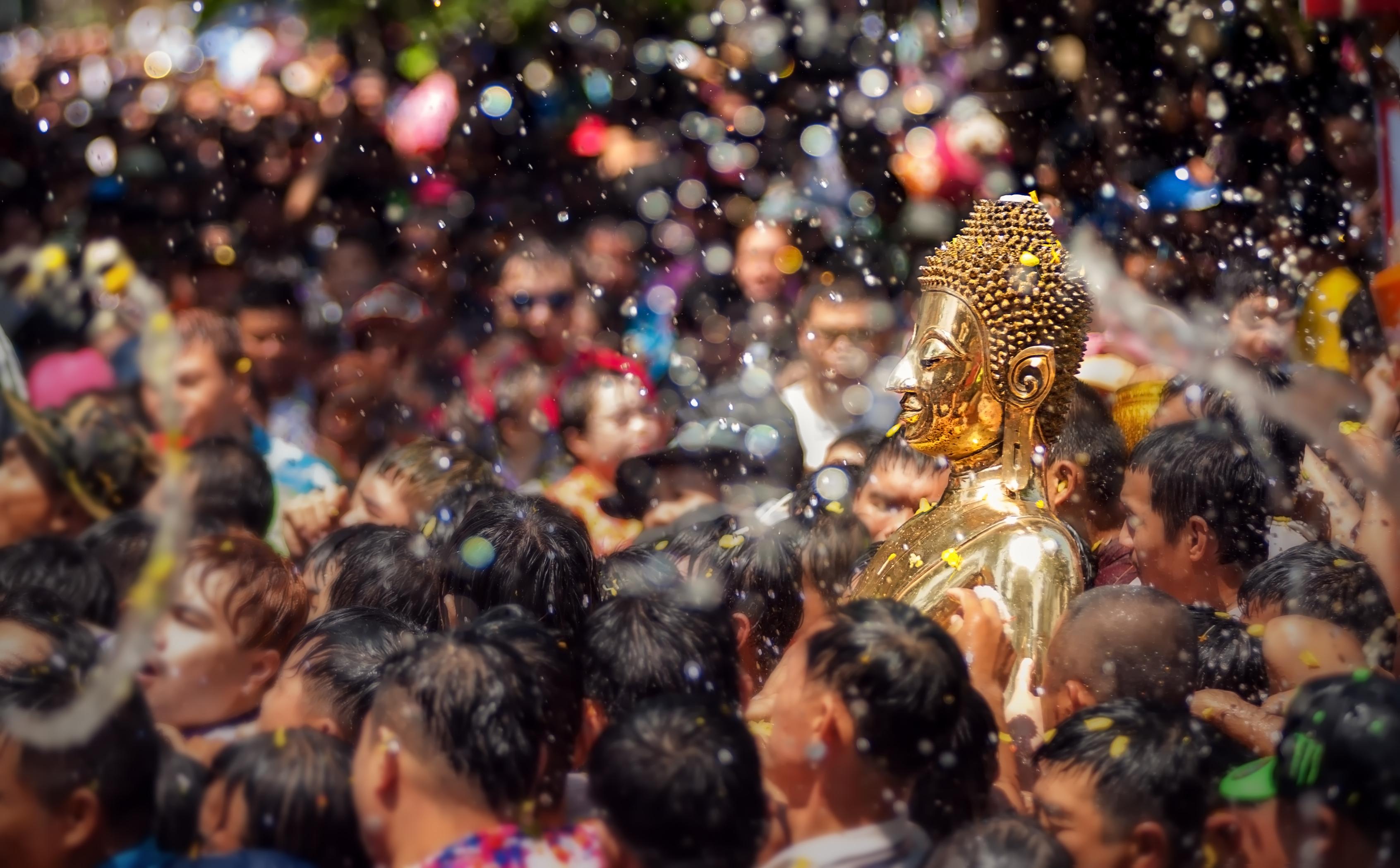 Buddha statue at the Songkran Festival