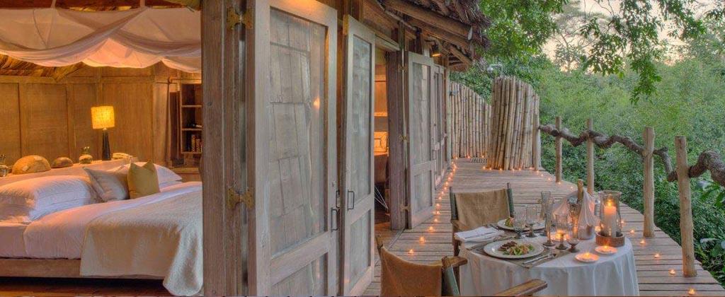 Treehouse suites in Lake Manyara Tree Lodge