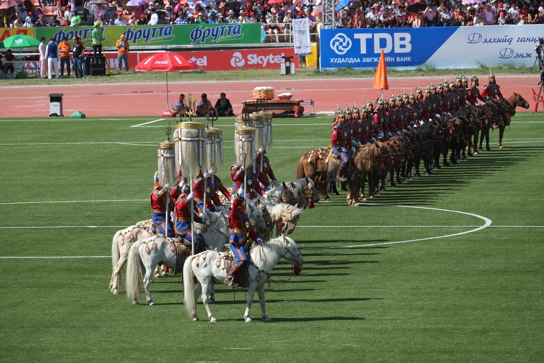 The opening ceremony of Mongolia's Naadam Festival