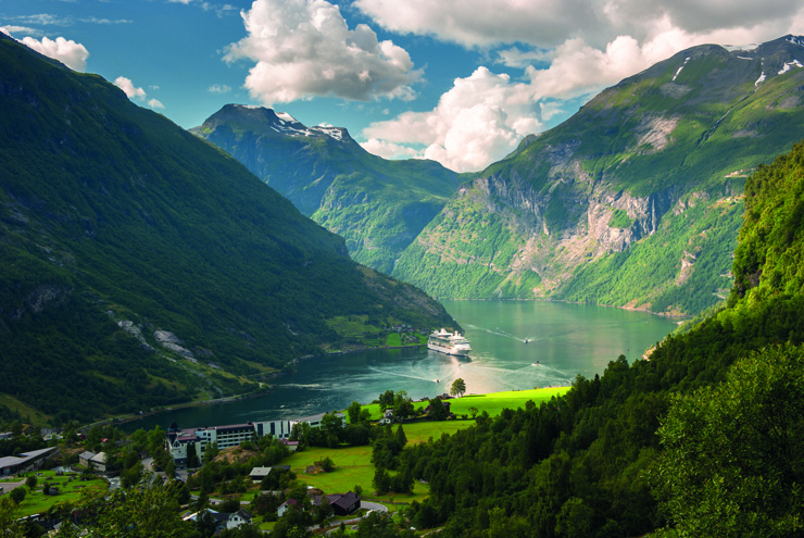 Top 10 cruise journeys - Sail through the Geirangerfjord in Norway and surround yourself with stunning scenery
