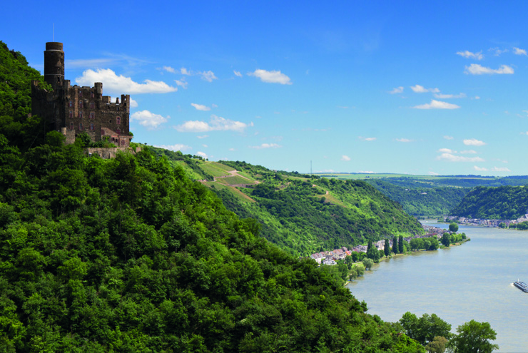 Top 10 cruise journeys - The Rhine River Valley and Castle Maus in Germany