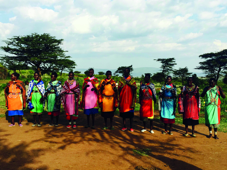 The women of the Maasai Mara tribe