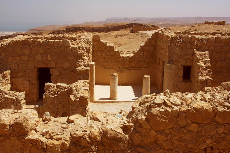 Masada fortress - visiting the Dead Sea in Israel