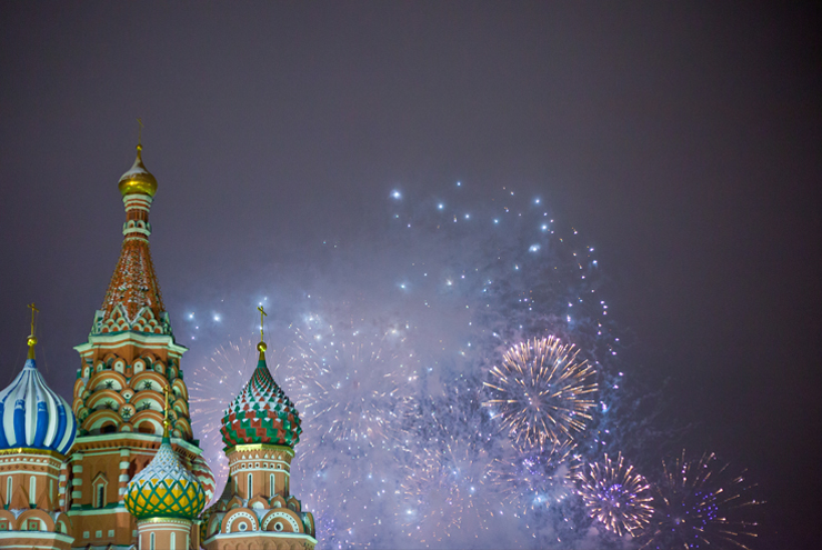 New Year's Eve - Enjoy the firework display from Moscow's Red Square