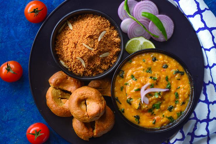 Dal baati churma Rajasthani cuisine - things to do in Rajasthan