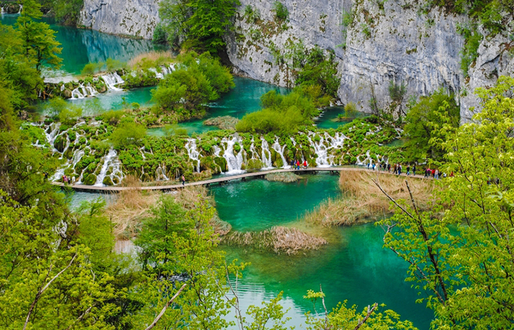Top UNESCO sites in Europe - Plitvice Lakes National Park in Croatia