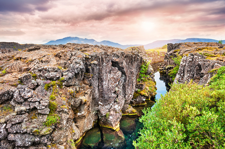 Top UNESCO sites in Europe - Thingvellir National Park in Iceland