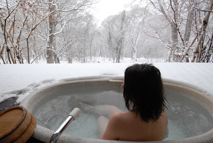 Bathing in a traditional Japanese onsen is one great reason to visit Japan in winter