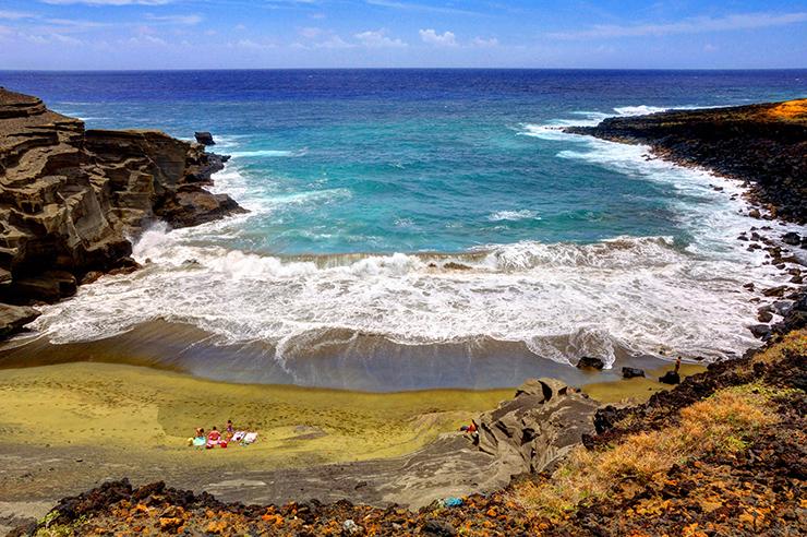 Papakōlea Beach, Hawaii - the world's most unusual beaches
