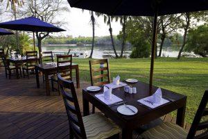Dining on a lodge accommodated safari compared to a camping safari