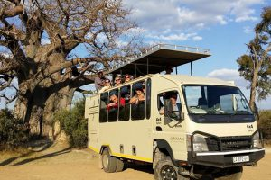 Vehicle - overland camping vs lodge-accommodated safaris in Africa