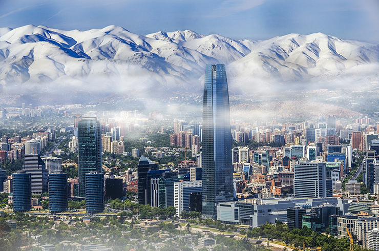 Santiago, Chile - cities to visit in South America