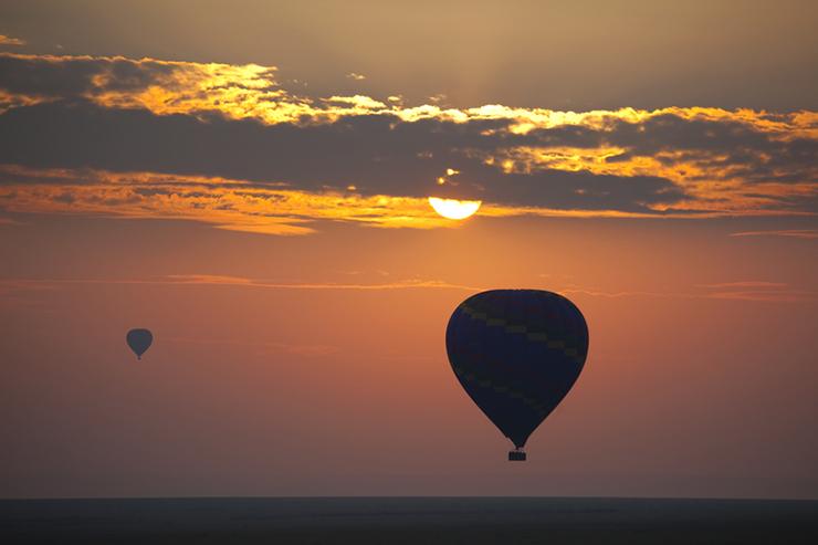 Hot air balloon Masai Mara - most romantic destinations around the world