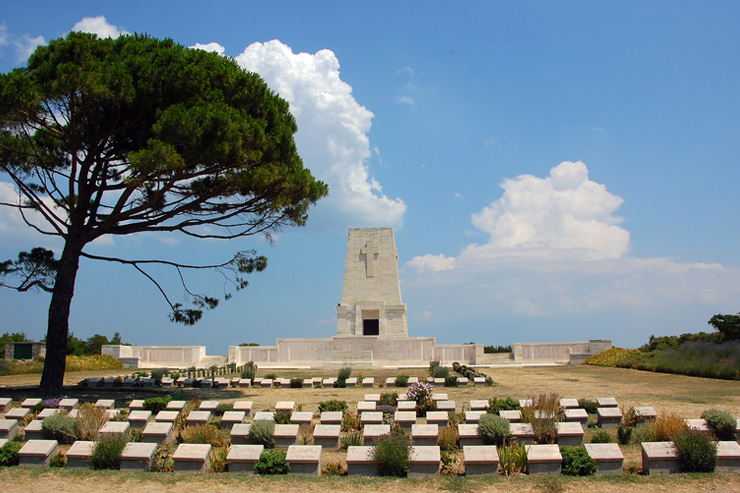 Lone Tree Anzac Memorial in Gallipoli in Turkey