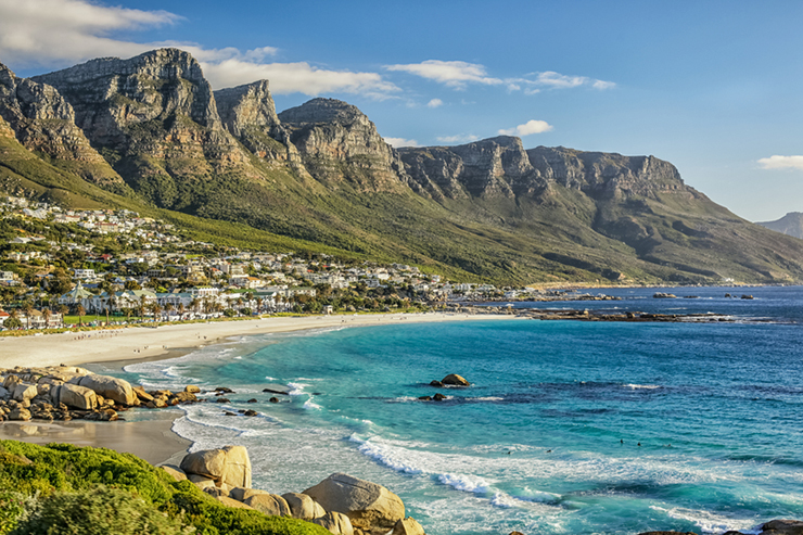 Mountains and beaches of Cape Town
