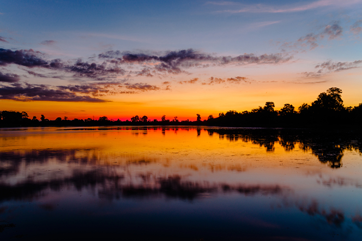 View of Srah Srang Lake, one of the Best Spots in Angkor to Watch Sunrise and Sunset
