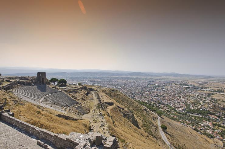 The amphitheatre of Pergamum in Turkey