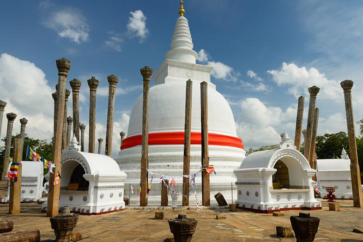 Thuparamaya dagoba in Anuradhapura located in Sri Lanka's North East