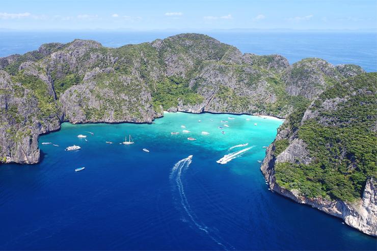 Arial View of Maya Bay Thailand