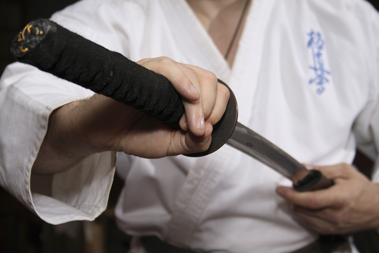 Practising with a samurai sword, a unique cultural experience in Japan