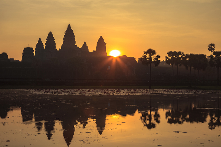 Sunrise at Angkor Wat, one of the Best Spots in Angkor to Watch Sunrise and Sunset