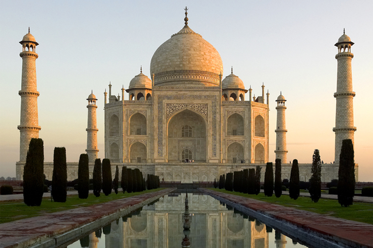 Taj mahal in India, one of the best family holiday destinations