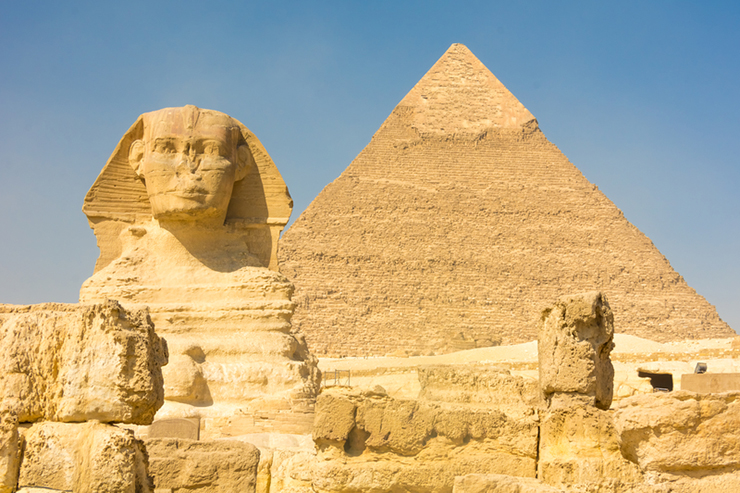 The Sphinx and pyramids at Giza in Egypt, one of the best family holiday destinations