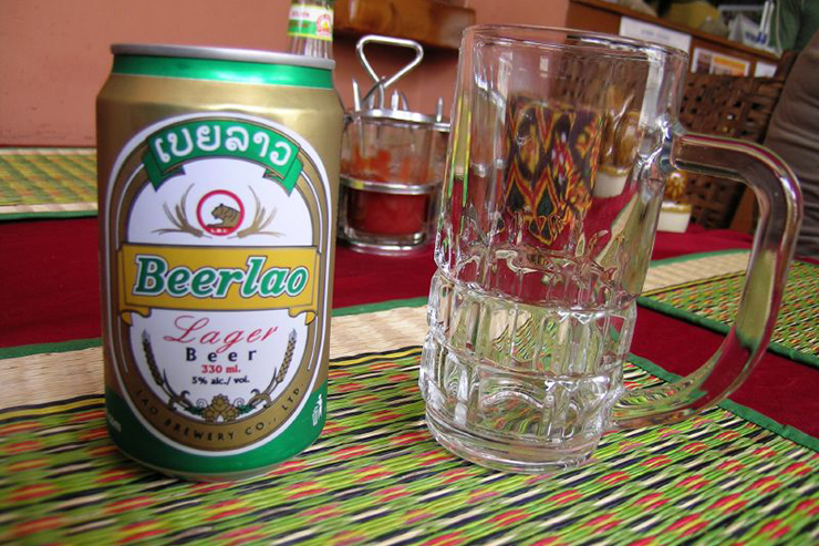 Beerlao, the national beer of Laos