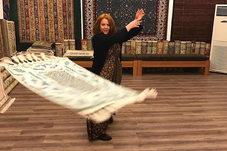Carpet spinning in Turkey