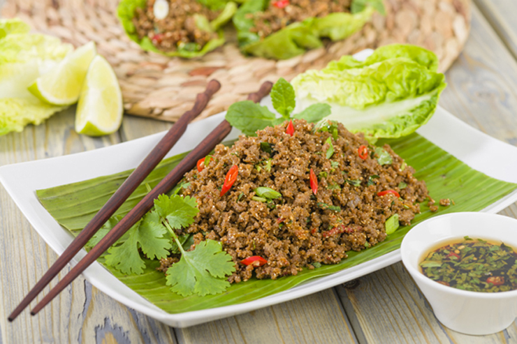 Laap, the national dish of Laos