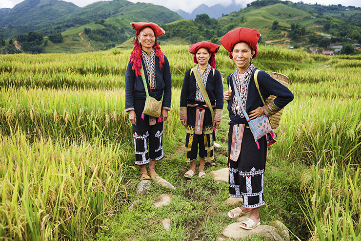 Red Dao Women in Sapa, Vietnam