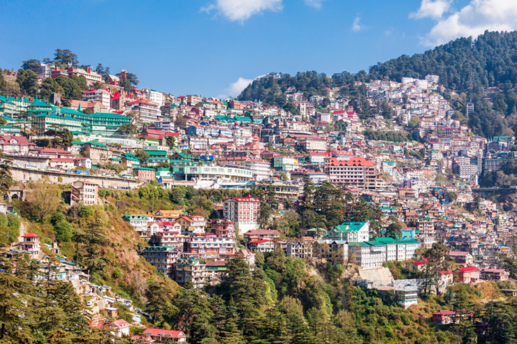 Shimla in the Himilayan foothills of India