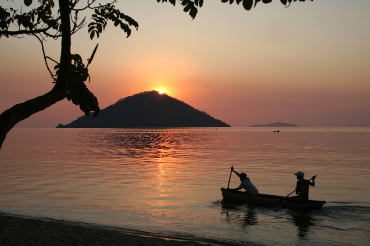 Sunset over Lake Malawi - best places to visit in southern Africa